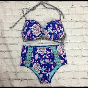 Shade & Shore 2pc Swim Suit Sz S/34D